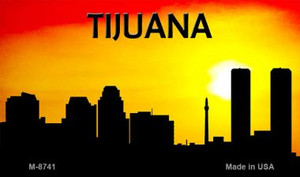 Tijuana Silhouette Wholesale Novelty Metal Magnet