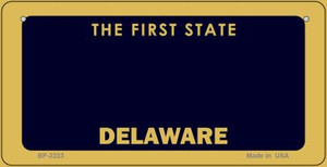 Delaware Novelty State Background Bicycle License Plate BP-2223