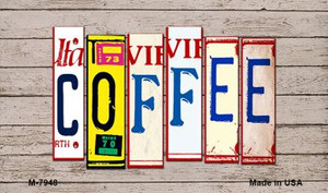 Coffee Wood License Plate Art Wholesale Novelty Metal Magnet