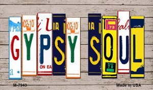 Gypsy Soul Wood License Plate Art Wholesale Novelty Metal Magnet
