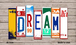 Dream Wood License Plate Art Wholesale Novelty Metal Magnet