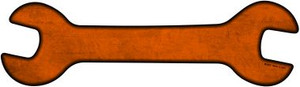 Orange Oil Rubbed Wholesale Novelty Metal Wrench Sign