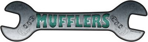 Mufflers Wholesale Novelty Metal Wrench Sign