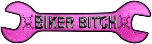 Biker Bitch Wholesale Novelty Metal Wrench Sign