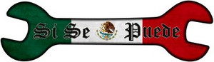 Yes You Can With Mexican Flag Wholesale Novelty Metal Wrench Sign