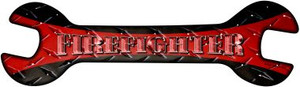 Firefighter Wholesale Novelty Metal Wrench Sign