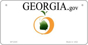 Georgia Novelty State Background Bicycle License Plate BP-2225