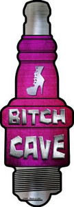 Bitch Cave Wholesale Novelty Metal Spark Plug Sign J-024