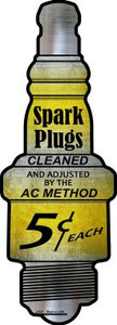 Spark Plugs Wholesale Novelty Metal Spark Plug Sign J-027