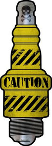 Caution Wholesale Novelty Metal Spark Plug Sign J-031
