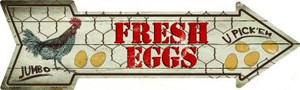Fresh Eggs Wholesale Novelty Metal Arrow Sign
