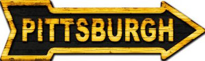 Pittsburgh Wholesale Novelty Metal Arrow Sign