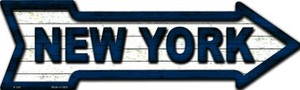 New York Colors Wholesale Novelty Metal Arrow Sign