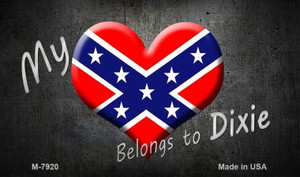 My Dixie Heart Wholesale Novelty Metal Magnet
