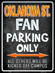 Oklahoma State Wholesale Metal Novelty Parking Sign