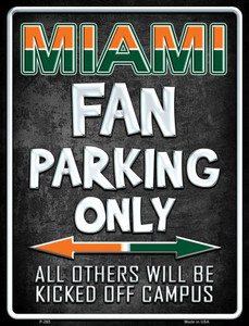 Miami Wholesale Metal Novelty Parking Sign