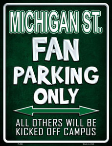 Michigan State Wholesale Metal Novelty Parking Sign