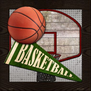 Basketball Wholesale Novelty Metal Square Sign