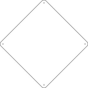 "White Dye Sublimation 16.5"" Wholesale Novelty Metal Crossing Sign CX-000"
