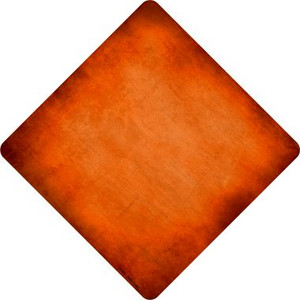 Orange Oil Rubbed Wholesale Novelty Metal Crossing Sign
