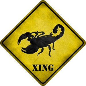 Scorpion Xing Wholesale Novelty Metal Crossing Sign