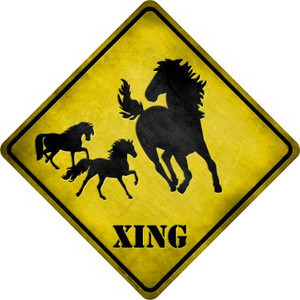 Horse Xing Wholesale Novelty Metal Crossing Sign