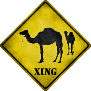 Camel Xing Wholesale Novelty Metal Crossing Sign