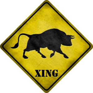 Bull Xing Wholesale Novelty Metal Crossing Sign
