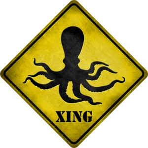 Octopus Xing Wholesale Novelty Metal Crossing Sign