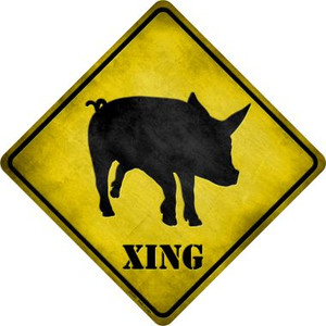 Pig Xing Wholesale Novelty Metal Crossing Sign