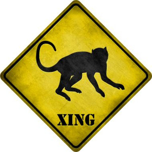 Monkey Xing Wholesale Novelty Metal Crossing Sign