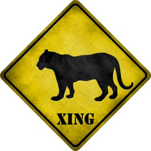 Tiger Xing Wholesale Novelty Metal Crossing Sign
