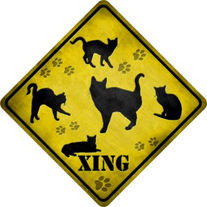 Cats Xing Wholesale Novelty Metal Crossing Sign