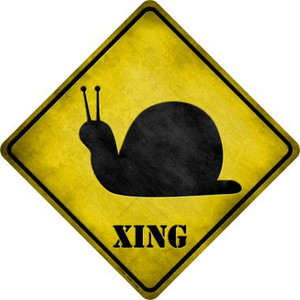 Snail Xing Wholesale Novelty Metal Crossing Sign