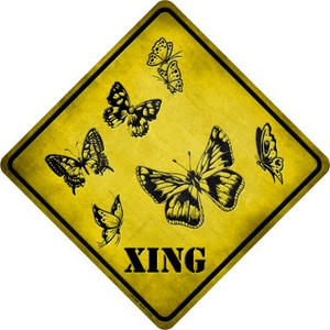 Butterflies Xing Wholesale Novelty Metal Crossing Sign