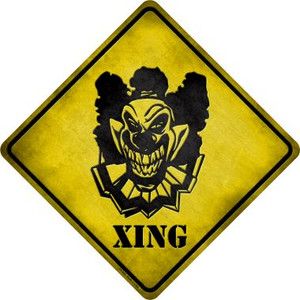 Clown Killer Xing Wholesale Novelty Metal Crossing Sign