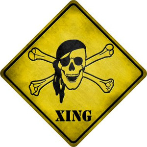 Pirate Xing Wholesale Novelty Metal Crossing Sign