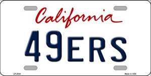 49ERS California State Background Novelty Wholesale Metal License Plate LP-2034