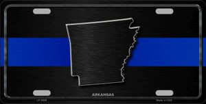Arkansas Thin Blue Line Wholesale Metal Novelty License Plate