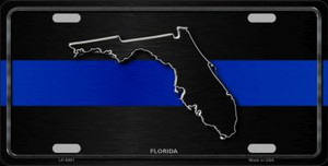 Florida Thin Blue Line Wholesale Metal Novelty License Plate