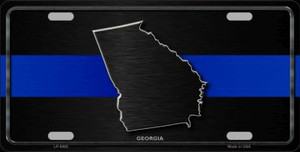 Georgia Thin Blue Line Wholesale Metal Novelty License Plate