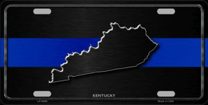 Kentucky Thin Blue Line Wholesale Metal Novelty License Plate