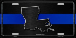 Louisiana Thin Blue Line Wholesale Metal Novelty License Plate