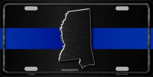 Mississippi Thin Blue Line Wholesale Metal Novelty License Plate
