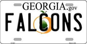 Falcons Georgia State Background Novelty Wholesale Metal License Plate LP-2041