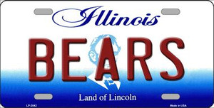 Bears Illinois State Background Novelty Wholesale Metal License Plate LP-2042