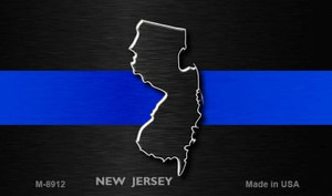 New Jersey Thin Blue Line Wholesale Novelty Metal Magnet