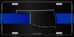 Oklahoma Thin Blue Line Wholesale Metal Novelty License Plate