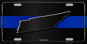 Tennessee Thin Blue Line Wholesale Metal Novelty License Plate