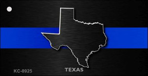 Texas Thin Blue Line Wholesale Novelty Key Chain